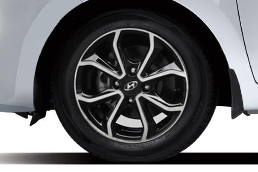 14 Inchi Alloy Wheel Black Gloss & Diamond Cut Polished