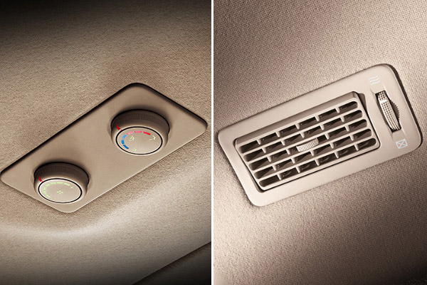 Rear Air Conditioning Controls