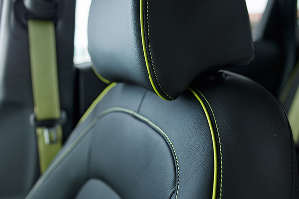 Lime Stitching With Lime Seatbelts