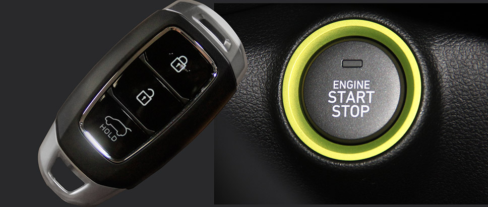 Smart Key with Immobilizer and Push Start Button