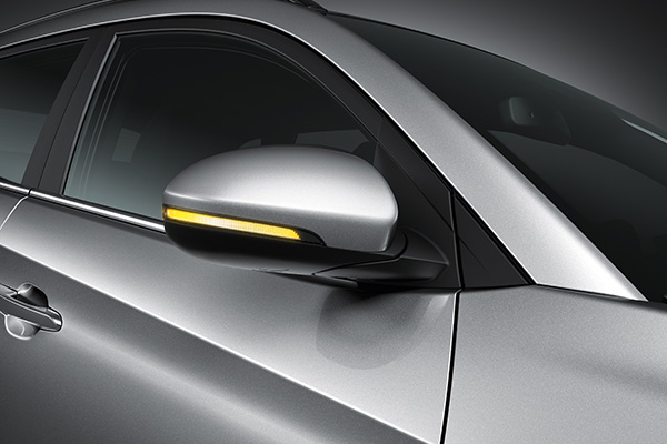 Folding Mirror + Side Repeater + Pudle Lamp