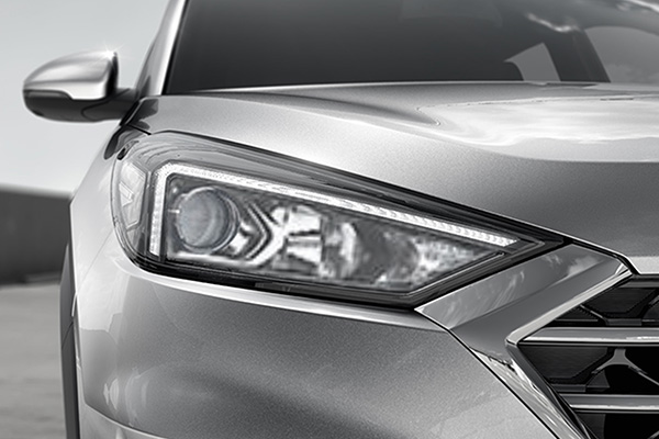Projector Head Lamps with HID Xenon 4,300K LED Positioning Lamp